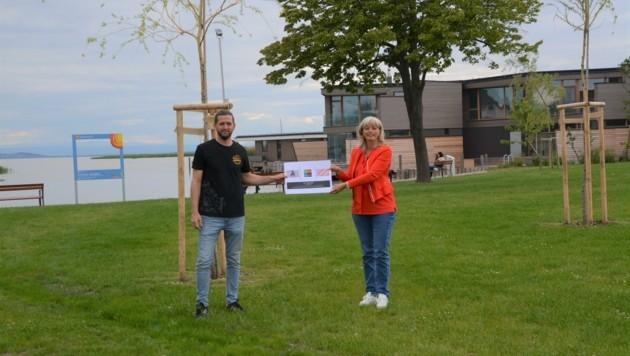 """David Dinhof und Bürgermeisterin Lisa Böhm freuen sich auf """"La Takeria"""". (Bild: Charlotte Titz)"""