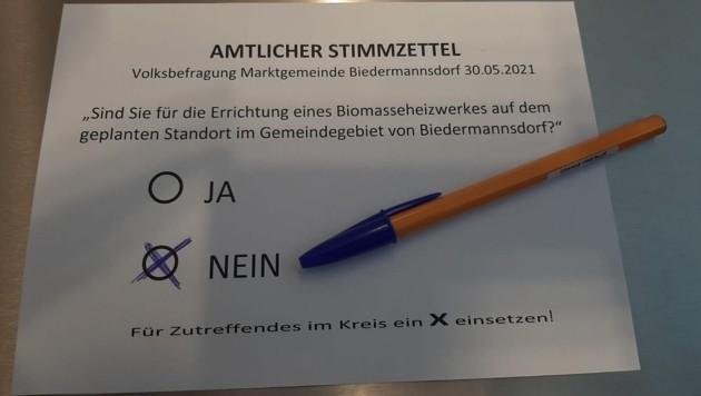 Ein klares Ergebnis brachte die Bürgerbefragung (Bild: zVg)