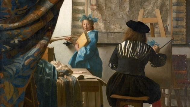 """Jan Vermeers """"Die Malkunst"""" (Bild: KHM-Museumsverband)"""