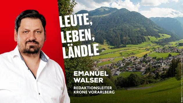 Krone Vorarlberg Redaktionsleiter Emanuel Walser informiert Sie über die Nachrichten aus dem Ländle. (Bild: mathis.studio)