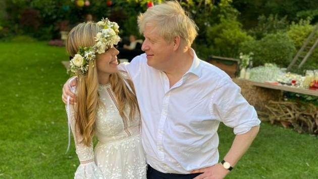 Carrie und Boris Johnson (Bild: twitter.com/JamesCleverly)