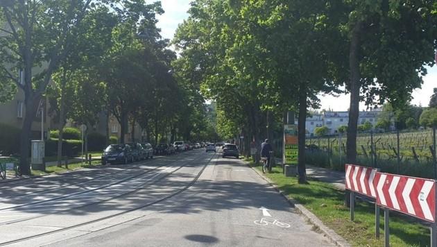 In diesem Teil der Alszeile gilt die Radspur am Parkstreifen. (Bild: Christina Ruckenbauer)