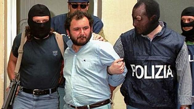 Giovanni Brusca bei seiner Festnahme im Mai 1996 (Bild: AP)