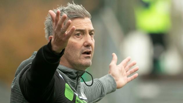 Trainer Markus Mader dirigiert ab 11. Juni die Kicker der Lustenauer Austria. (Bild: Maurice Shourot)