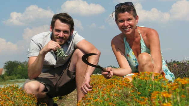 Stefan Zwickl und Uschi Zezelitsch freuen sich auf viele Gäste bei ihrer Duftwolken-Safari (Bild: Uschi Zezelitsch)