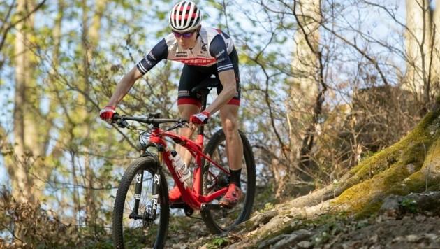 Volle Agenda für Ländle-Mountainbiker Feurstein, der in Graz nach dem Titel greift. (Bild: Maurice Shourot)