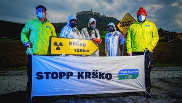 Die Atomgefahr ist allgegenwärtig: Von der Riegersburg ist Krško nur 120 Kilometer entfernt. (Bild: GLOBAL 2000 / Christopher Glanzl)