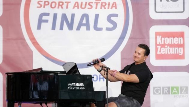 Andreas Gabalier auf der Finals-Bühne (Bild: GEPA pictures)