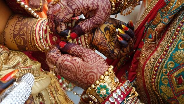 Vorbereitungen auf eine indische Hochzeit (Symbolbild) (Bild: AFP)