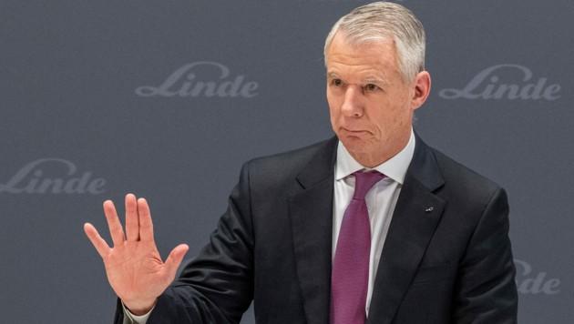 Steve Angel, Chef des amerikanisch-deutschen Gasekonzerns Linde, verdiente im Jahr 2020 13,9 Millionen Euro (2019 waren es noch 16,5 Millionen Euro). (Bild: APA/dpa/Lino Mirgeler)