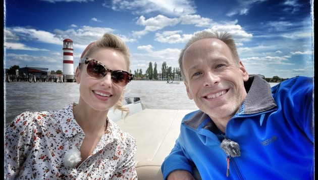 Silvia Schneider und Marcus Wadsak genossen die Zeit am See. (Bild: Marcus Wadsak)