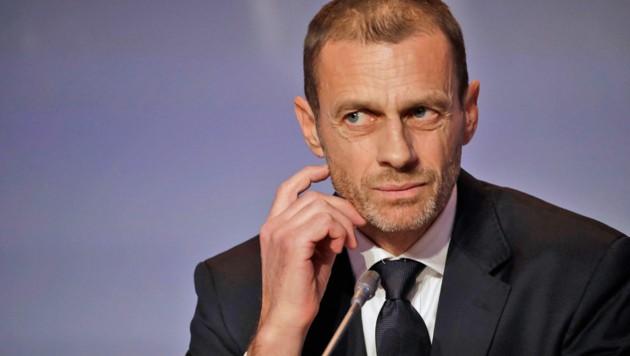 UEFA-Präsident Aleksander Ceferin (Bild: AP)