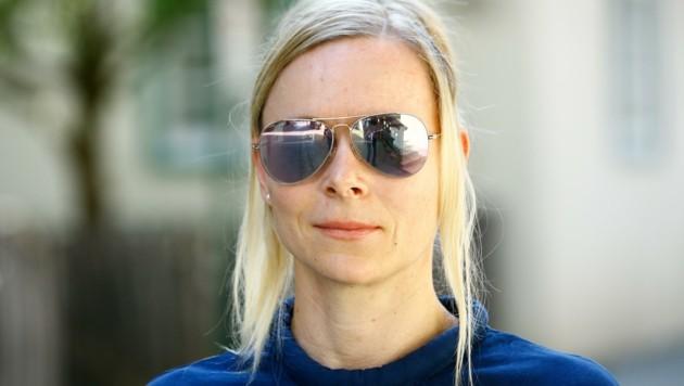 """Angie Biedermann, Ordinationsassistentin: """"Dass bis jetzt noch keine Lösung gefunden wurde, ist ein Jammer. Meine Kinder und ich waren immer so gerne baden."""" (Bild: Gerhard Schiel)"""