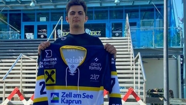 Luka Rössler steht ab sofort wieder für den EK Zell am Eis. (Bild: EK Zeller Eisbären)