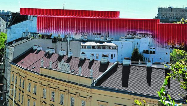 Von dieser Blickrichtung aus würde der KaDeWe-Bau das historische Grätzel dominieren, wie die Grafik zeigt. (Bild: KRONE KREATIV)