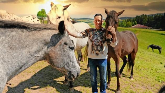 Johannes Wagner mit seinen wunderschönen Pferden (Bild: Pail Sepp)