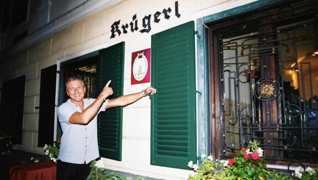 Generationen pilgerten ins Krügerl - Edi Herz schreibt jetzt ein Buch über das Lokal. (Bild: Edi Herz)