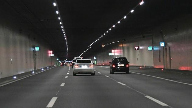 Der A22-Tunnel in Kaisermühlen (Bild: P. Huber)
