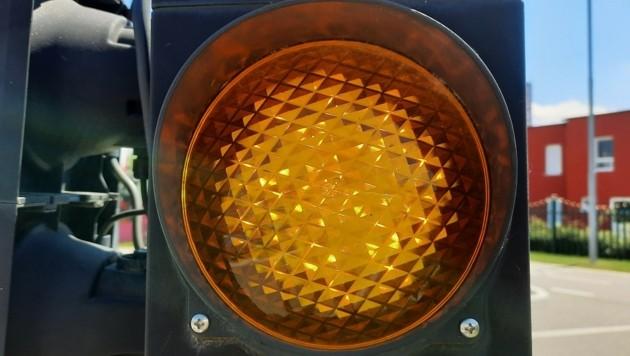 Die Corona-Ampel ist in Salzburg wieder orange. (Bild: P. Huber)