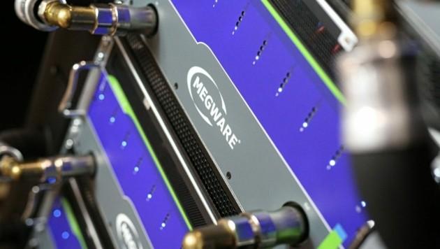 """Das modulare Servergehäuse mit """"effizienter Heißwasser-Direktkühlinfrastruktur"""". (Bild: Megware)"""