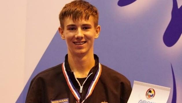 Youngster Mathias Kowarik entschied alle Kämpfe vor der Zeit und legte erneut eine Talentprobe ab. (Bild: Karate Austria)