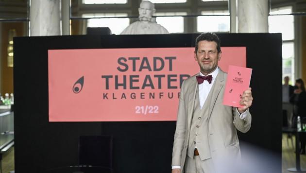 Intendant Aron Stiel hat das Programm für die Spielzeit 2021/2022 am Stadttheater Klagenfurt präsentiert (Bild: ©HelgeBauer)