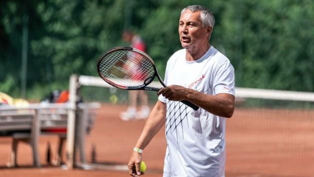 """In der Freizeit steht """"PP"""" auch gerne am Tennisplatz (Bild: GEPA pictures/ Johannes Friedl)"""