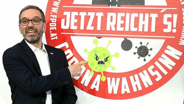 FPÖ-Generalsekretär Michael Schnedlitz (re.) sieht die FPÖ unter Herbert Kickl klar im Aufwärtstrend. (Archivbild) (Bild: APA/Helmut Fohringer)