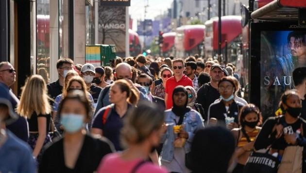 Großbritannien ist derzeit das einzige europäische Land mit steigenden Corona-Infektionszahlen. (Bild: AFP)