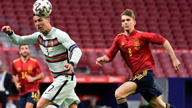 Llorente, hier noch gegen Cristiano Ronaldo (Bild: AFP )