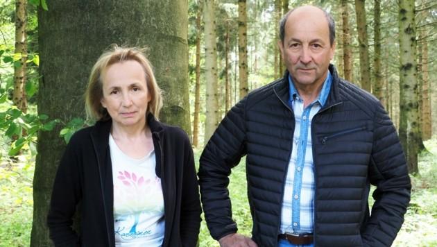 In Sorge – die Waldbesitzer Anton und Christine Hieger (Bild: GabrieleMoser)