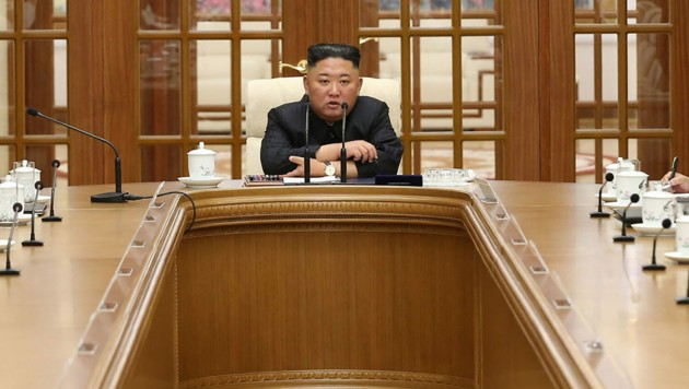Kim Jong Un auf einem Bild vom 4. Juni 2021 (Bild: AFP)