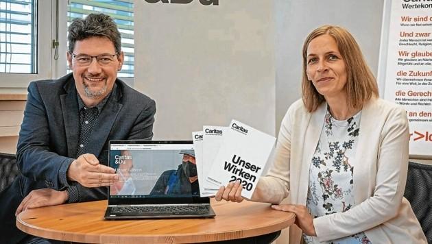 Caritas-Direktor Ernst Sandriesser und die kaufmännische Geschäftsführerin Marion Fercher sind begeistert vom Erfolg (Bild: Caritas Kärnten)