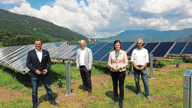 Die Projektchefs: Robert Kanduth, Adolf Melcher, Ursula Heitzer & Gerhard Rabensteiner (Bild: Krierer Wilfried)