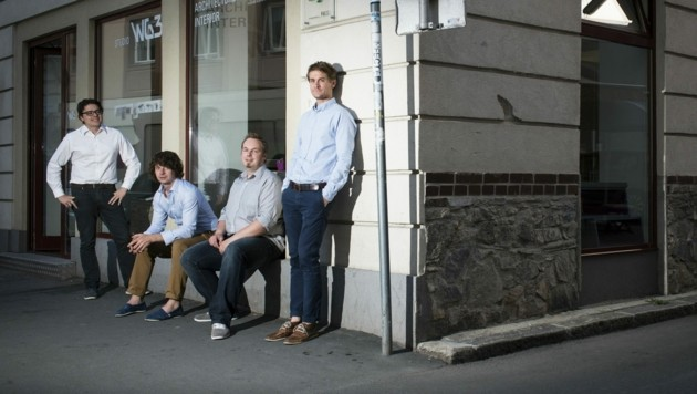 Das Team des Grazer studio WG3 (Bild: Daniel Sostaric)