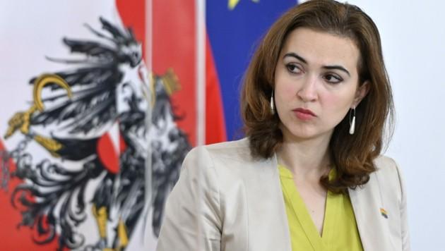 Die ÖVP will Justizministerin Alma Zadic (Grüne) in den Ibiza-U-Ausschuss laden. (Bild: APA/Herbert Neubauer)