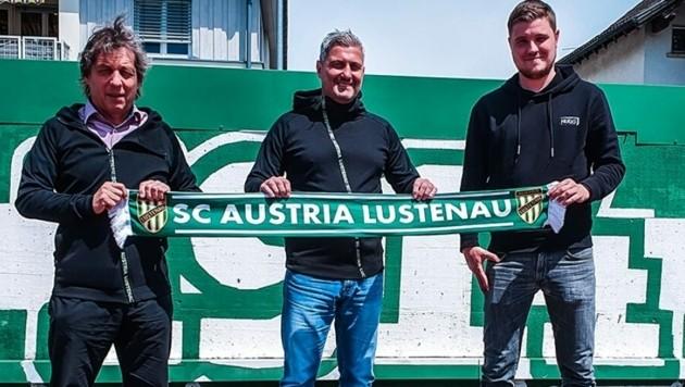 Am 11. Juni beginnt die Amtszeit von Markus Mader (M.) als Trainer bei der Lustenauer Austria. (Bild: Austria Lustenau)