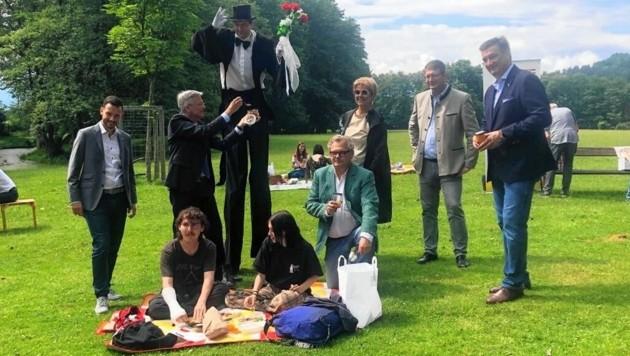 Wirte, Kunst und Kultur profitieren von der Picknick-Idee. (Bild: Fischer Claudia)
