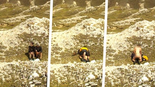 Das Pärchen wurde von der Webcam beim Liebesspiel gefilmt. (Bild: Nockalmstraße Webcam/zVg)