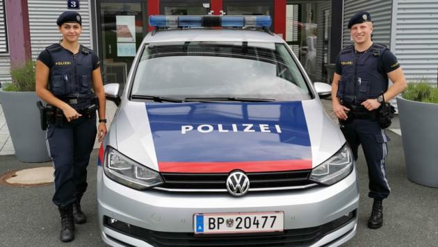 Die lebensrettenden polizisten: Chiara und Florian! (Bild: Polizei Kärnten)