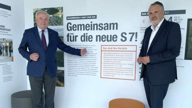 Landeshauptmann Hans Peter Doskozil (rechts) mit seinem steirischen Amtskollegen Hermann Schützenhöfer. (Bild: Schulter Christian)