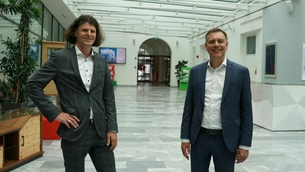 Michael Posselt (links), Obmann der Fachgruppe Finanzdienstleister und sein Stellvertreter Christoph Kirchmair (Bild: Wirtschaftskammer Tirol)