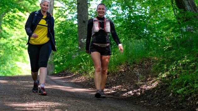 Laufen und Wandern bietet sich in den nächsten Tagen an. Ab Mittwoch wird es dann sehr heiß (Bild: Einöder Horst)