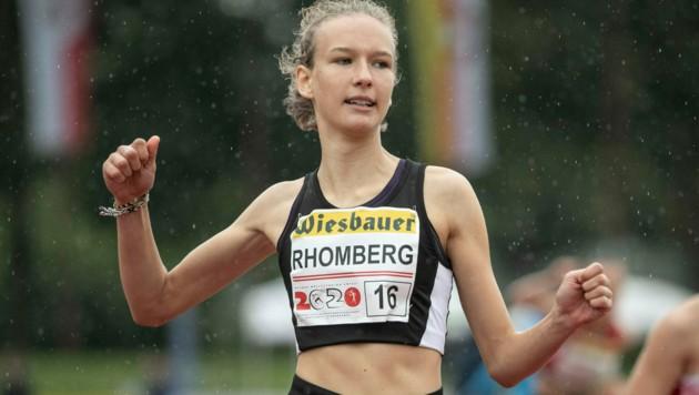 Annika Rhomberg (TS Gisingen) verbesserte in Salzburg-Rif ihre eigene Weitsprungbestmarke gleich um 37 Zentimeter (Bild: Maurice Shourot)