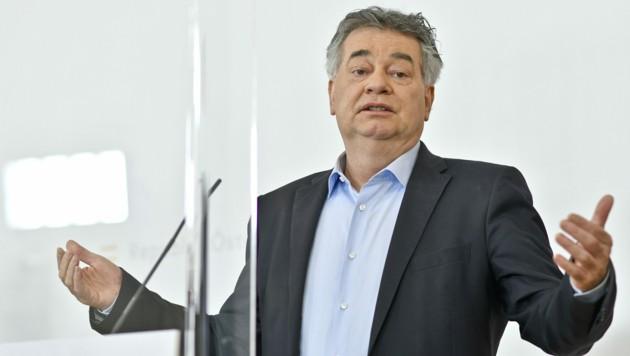 Vizekanzler Werner Kogler will sich 2022 der Wiederwahl zum Bundessprecher der Grünen stellen. (Bild: APA/HERBERT NEUBAUER)