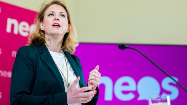 NEOS-Chefin Beate Meinl-Reisinger ist von Aussagen der Schmid-Nachfolgerin Christine Catasta irritiert. (Bild: APA/GEORG HOCHMUTH)