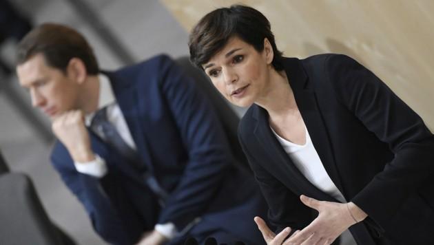 Bundeskanzler Sebastian Kurz (ÖVP) und SPÖ-Chefin Pamela Rendi-Wagner (Bild: APA/ROBERT JAEGER)