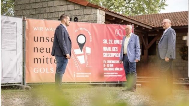 """Das Kriegerdenkmal soll in die """"Neue Mitte"""" integriert werden. (Bild: Gemeinde Gols)"""
