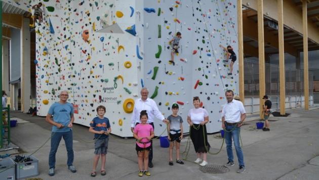 Die Kletterwand im Allsportzentrum wurde vergrößert (Bild: Charlotte Titz)