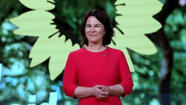 Annalena Baerbock war mit ihrer Rede beim Parteitag der Grünen nicht zufrieden. (Bild: AP)